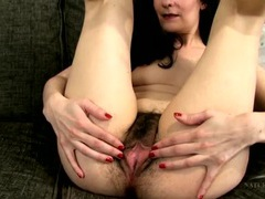 Hairy asshole and cunt on a lovely brunette mom tubes