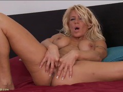 Vivacious blonde milf fingers her twat and ass videos
