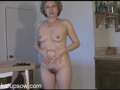 Amateur mature chick has a nice bush and perky tits tubes