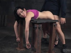 Bound over the table and fucked like a slave videos