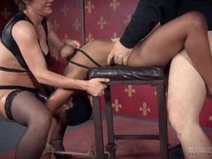 Black slut tied to a chair and fucked doggystyle movies