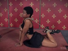 Tied up black girl fucked in her pretty wet mouth movies at kilotop.com