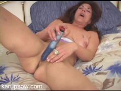 Mom writhes as she masturbates with a toy movies at find-best-videos.com