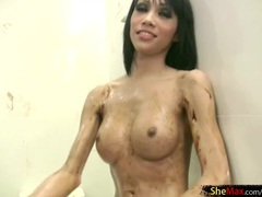Tranny covered in chocolate sauce and sucking dick movies at freekilomovies.com