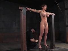 Her tits and face turn blue from bondage play movies at sgirls.net