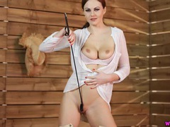 Riding clothes are hot on joi babe tina kay videos