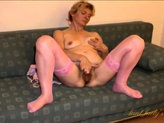 Big bush on an old slut with her legs spread videos