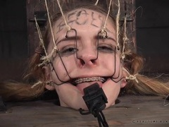 Young slut in braces does her first bdsm scene tubes