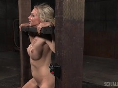 Big titty whore in hot bondage takes a face fucking videos
