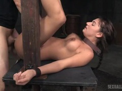 Sex slave used hard by two guys in the dungeon videos