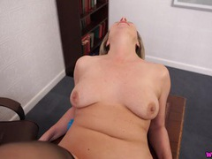 Freckled mature babe fucked in virtual pov videos