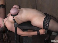 Her throat swallows cock and strapon easily movies at freelingerie.us