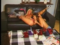 Lesbians fuck as the horny guy jerks off videos
