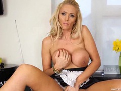 Busty french maid wants your cum on her tits videos