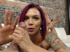 Tattooed girl is so good at stroking dick movies at kilopics.net