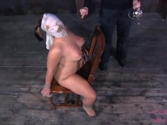 Nipple and water torture of a submissive girl videos