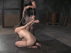 Tied beauty in the dungeon abused by her mistress movies at find-best-hardcore.com