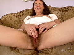 Nice bush grown by a joyful milf showing off videos