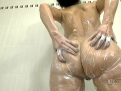Slippery milf body looks great in the shower movies at kilopics.net