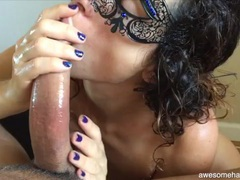 Sexy masked amateur covered in oil to stroke his dick movies at find-best-videos.com