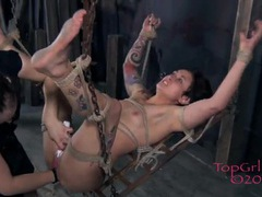 Submissive takes a hard fisting from mistress movies at kilopics.com