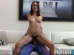 Hairy twat takes a load in a pov reality video videos