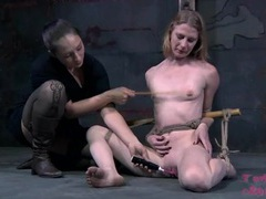 Mistress whips the titties of a skinny submissive videos