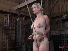 Rope bound sub follows the orders of her mistress tubes