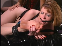 Bound girls ball gagged by their lesbian mistress videos