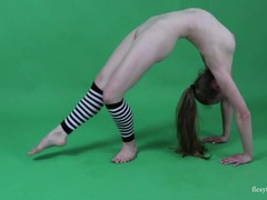 Naked teen does splits and back bends videos