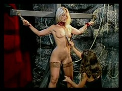 Hot blonde flogged on the ass until it turns red videos