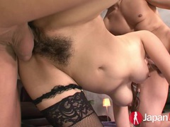 Double creampie for petite japanese milf videos