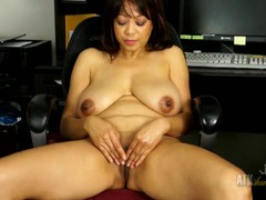 Mommy rubs oil into her mature titties movies at sgirls.net