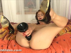 Horny kristine crystalis cumming on a big brutal dildo movies at kilopills.com