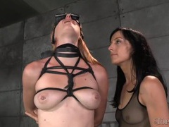 Electro play excites the girl in rope bondage movies at find-best-lingerie.com
