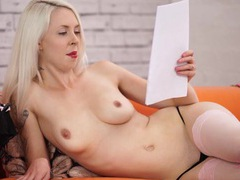 Erotica read by a beautiful punk in lingerie movies at lingerie-mania.com