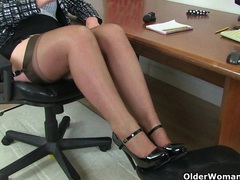 Uk milf red will assist you at the office today videos