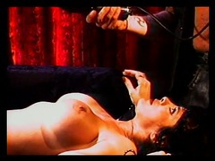 Vintage electro play with a beauty in bondage videos