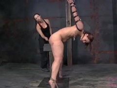 Sexy bound girl caned all over her body videos