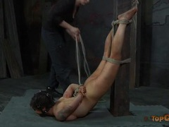 Caning the vulnerable body of a bound sub girl videos
