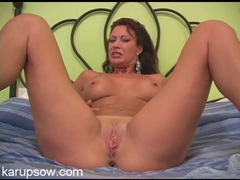Naked mom has her legs wide open for your pleasure movies at lingerie-mania.com