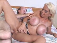Tit fucking and pussy pounding a bimbo slut videos