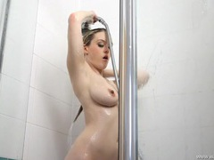 Sexiest shower ever from this curvy blonde movies at sgirls.net