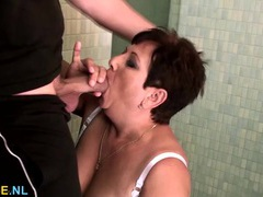 Young dick bangs a mature bbw in her bathroom movies at find-best-videos.com