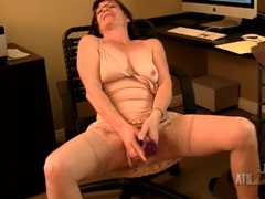 Grandma secretary stuffs a toy in her pussy movies at find-best-videos.com