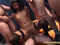 Extreme hot teen gangbang orgy movies at sgirls.net