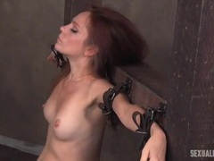 Slut bound in a dungeon and fucked in the mouth videos