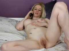 Naked chick talking dirty on the phone videos