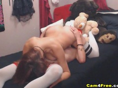 Cam lesbians in the bedroom eating pussy videos