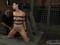 Dungeon slave ordered to piss in a bucket videos